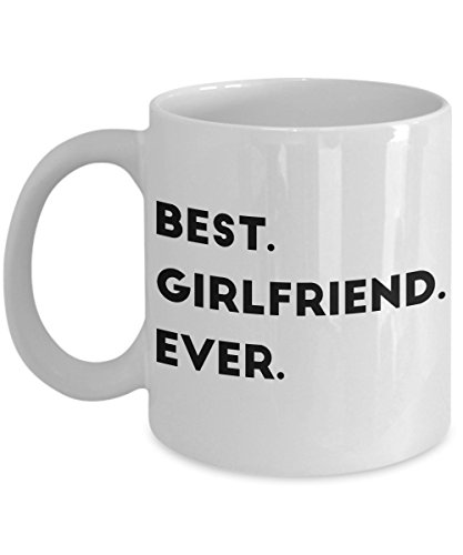 Sms Christmas Quotes Greetings - Best Girlfriend Ever - Valentines Day Gift - Unique Coffee Mug