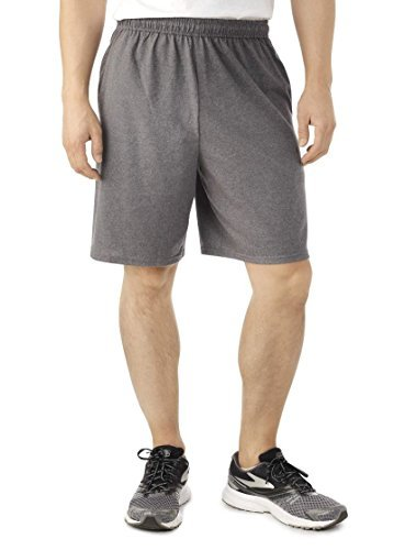 Fruit of the Loom Men's Jersey Short (X-Large, Charcoal Grey)