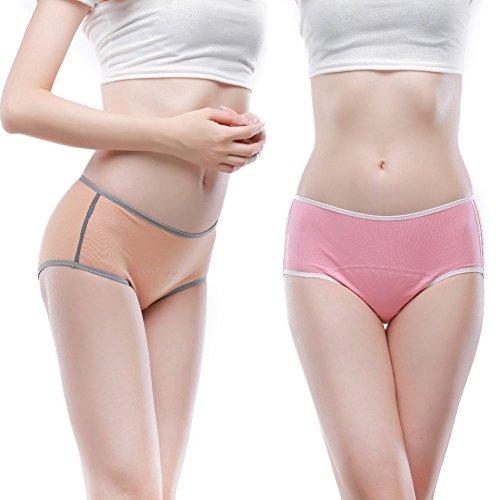 Women's Menstrual Period Soft 100% Cotton Leak Proof Brief Multi Pack US Size XXS-XXL/9