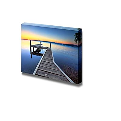 Beautiful Scenery View of Sun Setting on The Horizon at Belmont View from The Jetty - Canvas Art Wall Art - 32