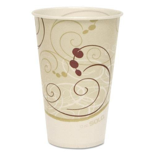 SCCR12NSYM - Waxed Paper Cold Cups, 12 Oz, Symphony Design