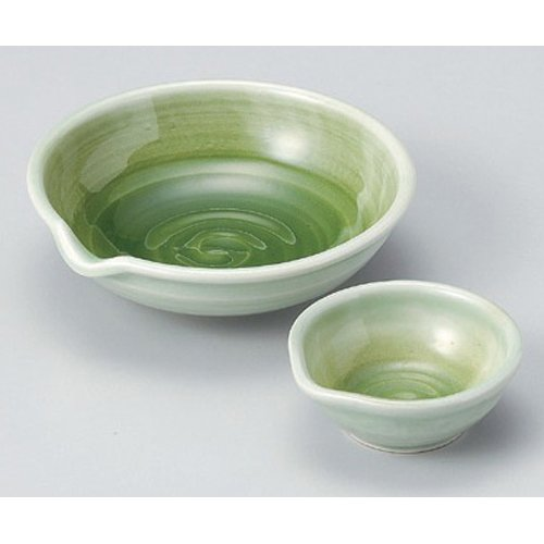 Sashimi Plate utw52-19--20-794  Japanece ceramic Green celad