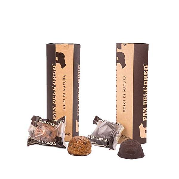 2 Tubi snack Pan dell'Orso - Gocce di Cioccolato e Ricoperto al Cioccolato