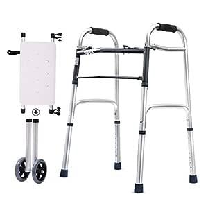 BZEI-WALKERS Caminador Plegable de Movilidad Ajustable con Ruedas ...