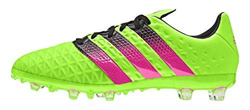 adidas Unisex-Kinder Ace 16.1 Fg/Ag Fußballschuhe Grün (Solar Green/Shock Pink/Core Black)