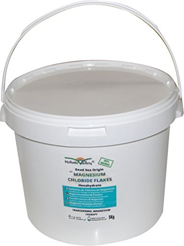 Magnesium Chloride Flakes 5kg tub by Holistic Valley