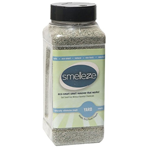 - SMELLEZE Natural Yard Odor Remover Deodorizer: 2 lb. Granules Eliminates Outdoor Smell