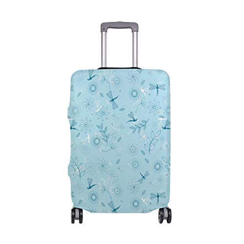 (Dragonfly Fountain Travel Apple Travel Luggage Protector Case Suitcase Protector For Man&Woman Fits 18-32 Inch Luggage)