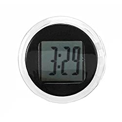 BleuMoo 1Pc Universal Mini Motorcycle Clock Watch Waterproof Stick-On Motorbike Digital Clock