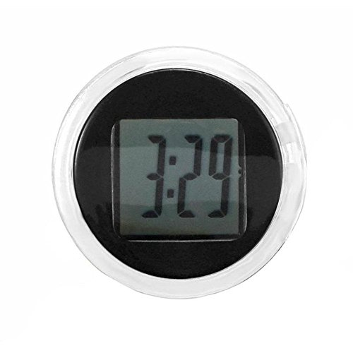 (BleuMoo 1Pc Universal Mini Motorcycle Clock Watch Waterproof Stick-On Motorbike Digital Clock)