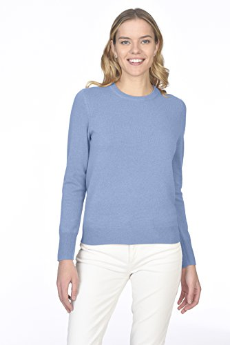 State Cashmere Women's 100% Pure Cashmere Long Sleeve Pullover Crew Neck Sweater