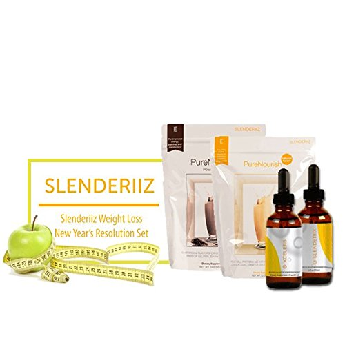 Biosense Clinic Slenderiiz Healthy Slim Set Combo Slenderiix&Xceler8+PureNourishNatural+PureNourishPowerBoost