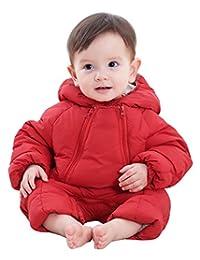 Winter Baby Girl's One-Piece Hood Down Cotton Snowsuit Jumpsuit