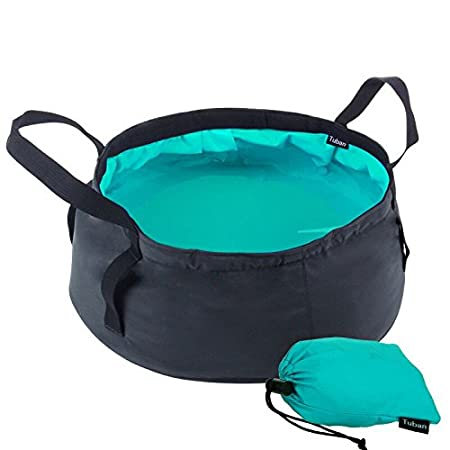 BJ-SHOP Folding Basin,Collapsible Basin Leak-proof Lightweight Portable Wash Basin with Carry Bag for Camping Travel Washing Fishing 8.5L