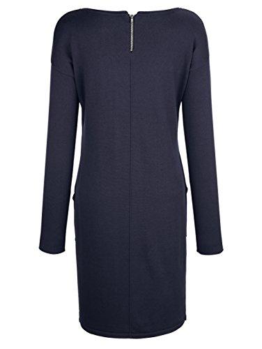 Moda Baumwolle aus Alba Reiner Strickkleid Navy Damen trageangenehmer Z171qxd8w