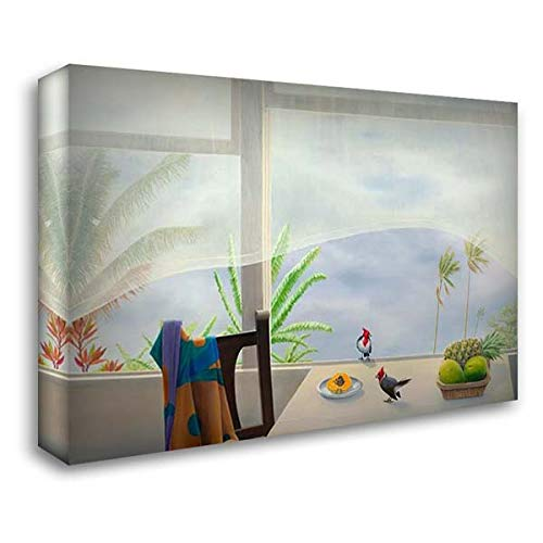 Outside in, Tempestuous Bliss 60x40 Extra Large Gallery Wrapped Stretched Canvas Art by Craig, Emmeline