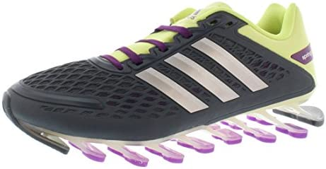 Adidas Womens Springblade Fabric Low Top Lace Up, Gray Lime Silver, Size 9.0