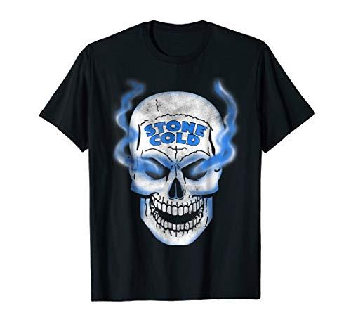 WWE Stone Cold Steve Austin Smokey Distressed Skull T-Shirt ()