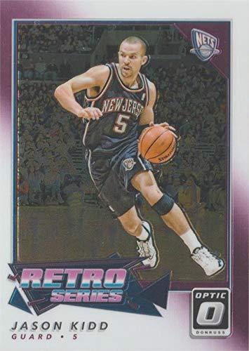 Jason Kidd basketball card (New Jersey Nets, All Star) 2018 Panini Donruss Optic Chrome Retro #22
