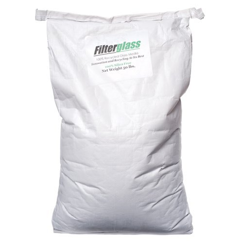 FilterGlass Alternative Filter Media for Pool Sand Filters - 50 Pounds