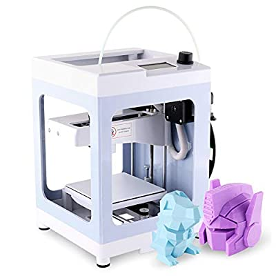"""IUSE Desktop 3D Printer for Design 3D Impresora Max Size 4.3""""x 4.3"""" x 4.9""""with 200g PLA Filament TF Card and No Assembly Required Windows/Linux"""