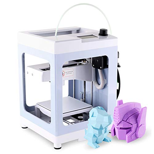 IUSE Desktop 3D Printer for Design 3D Impresora Max Size 4.3'x 4.3' x 4.9'with 200g PLA Filament TF Card and No Assembly Required Windows/Linux