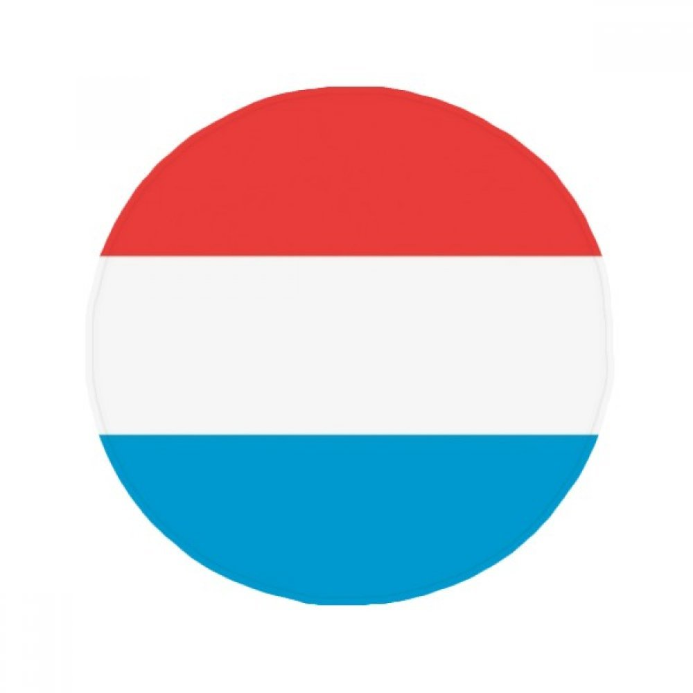 60X60cm DIYthinker Luxembourg National Flag Europe Country Anti-Slip Floor Pet Mat Round Bathroom Living Room Kitchen Door 60 50Cm Gift