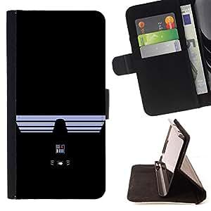 - Darth Vad3R - Star War - - Prima caja de la PU billetera de cuero con ranuras para tarjetas, efectivo desmontable correa para l Funny HouseFOR Samsung ALPHA G850