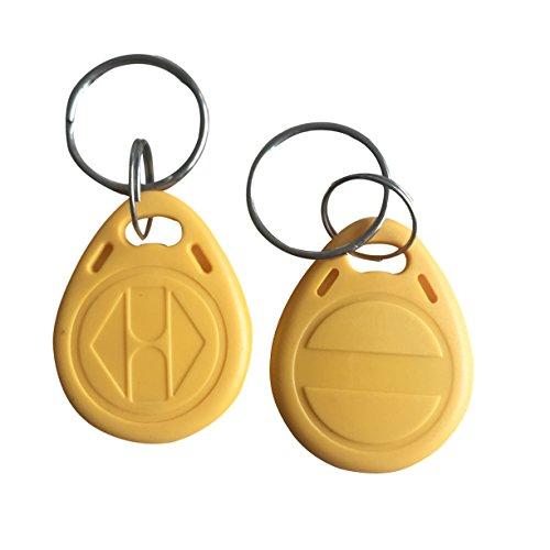 YARONGTECH-125khz قابل ضبط قابل چاپ T5577 برچسب کلید RFID زرد برای کلیدهای هتل 10 قطعه