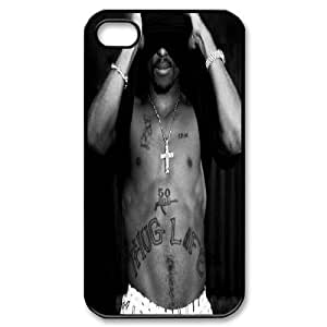 2Pac West Coast Hip Hop IPhone 4/4s Case, Case for Iphone 4s Hardshell Bloomingbluerose - Black