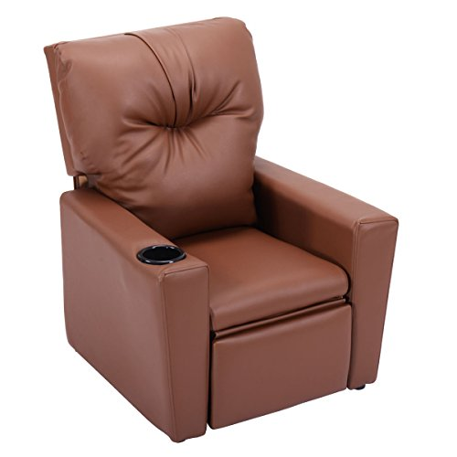 Brown Wood frame, PU Kid Armchair With Ebook by MRT SUPPLY