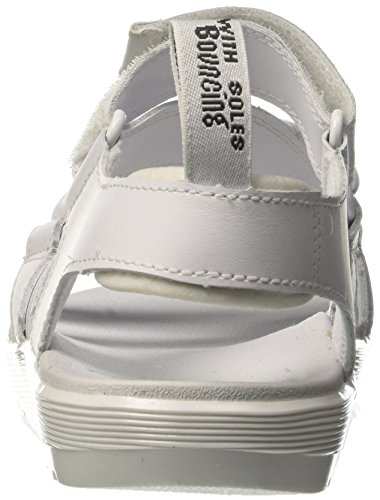 Dr. Martens redfin, Sandales Bout Ouvert Femme Blanc (White 100)