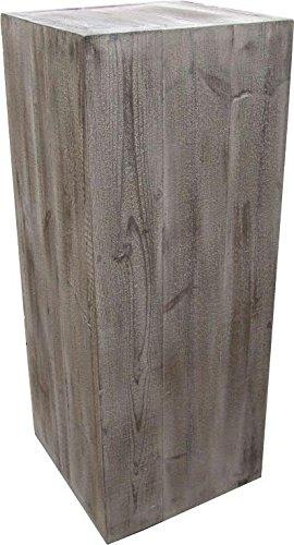 Säule - Holz - 50cmx39cmx39cm - Old Pine - Leichte Dekosäule