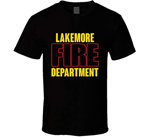 Lakemore Fire Department Personalized City T Shirt M Black
