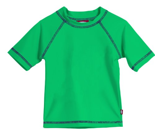 - Baby Boys' and Girls' Solid Rashguard Swimming Tee Shirt Rash Guard SPF Sun Protection for Summer Beach Pool and Play, S/S Elf, 18-24 mon.