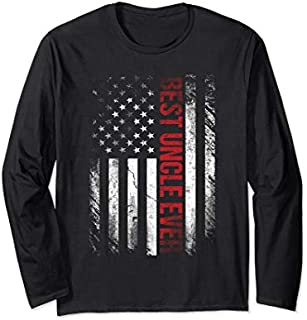 [Featured] Best Uncle Ever American Flag Gift For Uncle Long Sleeve in ALL styles | Size S - 5XL