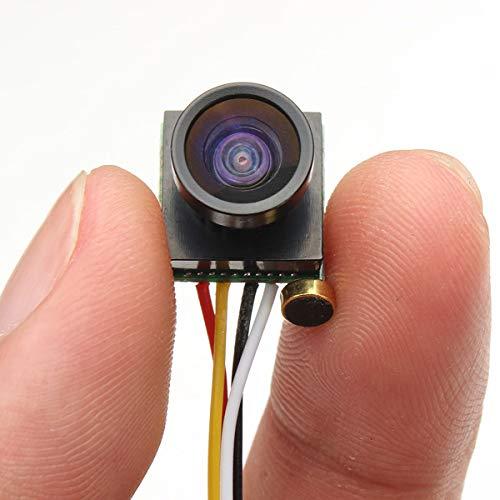 Ochoos 600TVL 1.8mm 1/4 CMOS 120 Degree Wide Angle Lens FPV Camera PAL/NTSC 3.7-5V for RC Drone FPV Racing - (Mode: PAL)