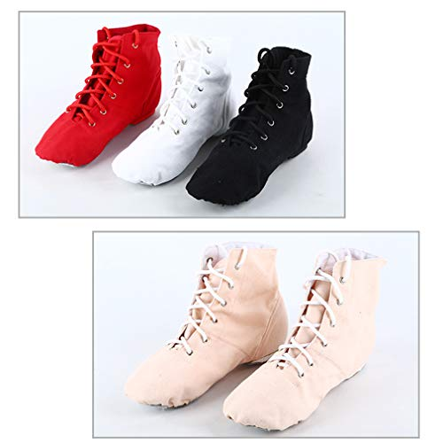 White White 26 Black Shoes Solid Training Red Jazz Ballet Sizes Pointed Flat Dance 45 Lacing Ladies's Colors Shoes Dance Children's Shoes RFSSfq