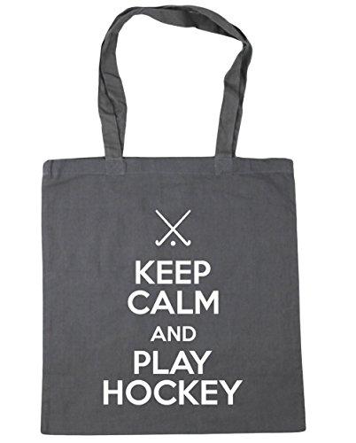 42cm Gym x38cm Graphite litres Keep Grey Play Hockey and 10 Beach Calm HippoWarehouse Bag Tote Shopping C10wPnvwqx