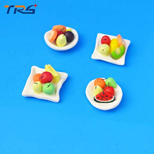 Sala-Ctr - 10PCS/LOT 1/30 colorful fruit plate Cake mix size Cabochons Scrapbooking Hair Bow Center Card Frame Making Craft DIY
