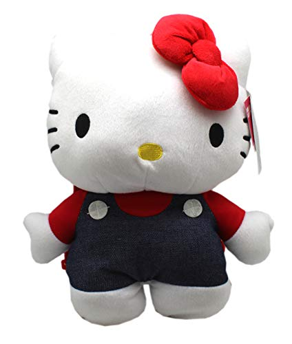 - PLUSH BACKPACK Sanrio's Hello Kitty Wearing Overalls Medium Size Kids (12in)