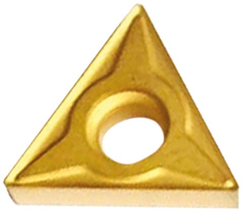 "Cobra Carbide 40927 Solid Carbide Turning Insert, C520 Grade, Uncoated (Bright) Finish, TCMT Style, TCMT 21.51, 3/32"" Thick, 1/64"" Radius (Pack of 10)"
