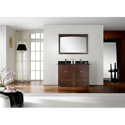 "50%OFF Jade Bath JB-17741 47.5"" W x 18"" D Modern Plywood-Veneer Vanity Base Set Only, Walnut"