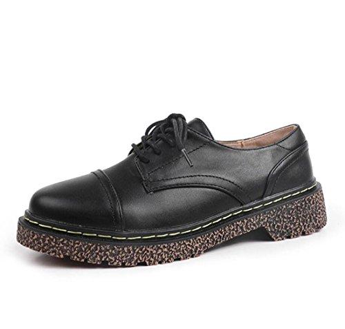 La De Casual De Otoño Mocasines DANDANJIE Estilo Literario Zapatos Zapatos Vintage De De Black Universidad Mujer w844Rq