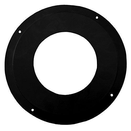 """ChimFit 5"""" Rosette Collar Vitreous Enamelled For Wood Burning Multifuel Stoves"""