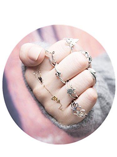 7 Set each Crystal Ring Byzantine Style Silver Greek Handmade Art Big Luxury