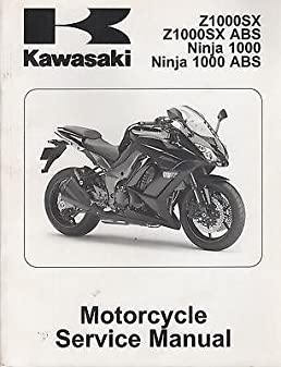 2011 kawasaki motorcycle ninja 1000 abs z1000sx service manual 549 rh amazon com kawasaki motorcycle repair manuals download kawasaki motorcycle manuals free download