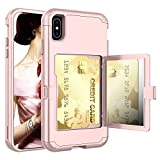 iPhone XR Wallet Case, KMISS 3 in 1 Heavy Duty Protective Shockproof All-Round