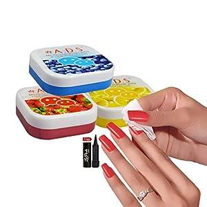 ADS A1666 Lemon, Strawberry, Bluberry Polish Removing Wipes Pack of 3PCs With Free LaPerla Kajal