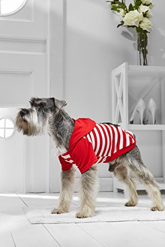 Small Dog Hooded T Shirt For Miniature Schnauzer Pekingese Havanese Jack Russell (Small Size, red, (Pekingese Dog Miniature)